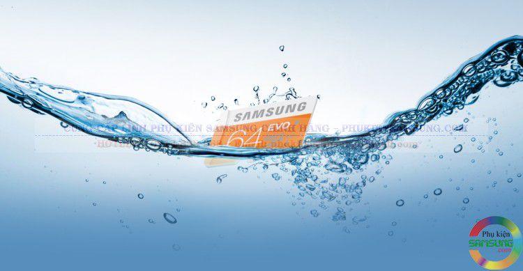 Thẻ nhớ Samsung 64Gb Evo có khả năng chống nước