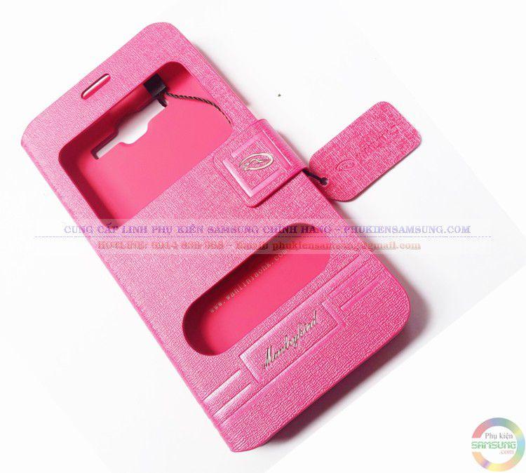 Thiết kế độc đáo, bao da Grand Prime G530 màu hồng đậm được đa số Fan của màu hồng lựa chọn