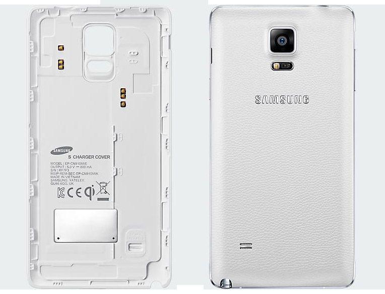 Nắp lưng sạc không dây Note 4 trắng