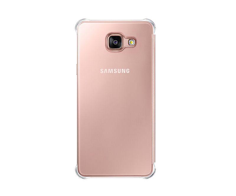 Bao da Clear View Galaxy A9 Pro 2016 màu tím hồng