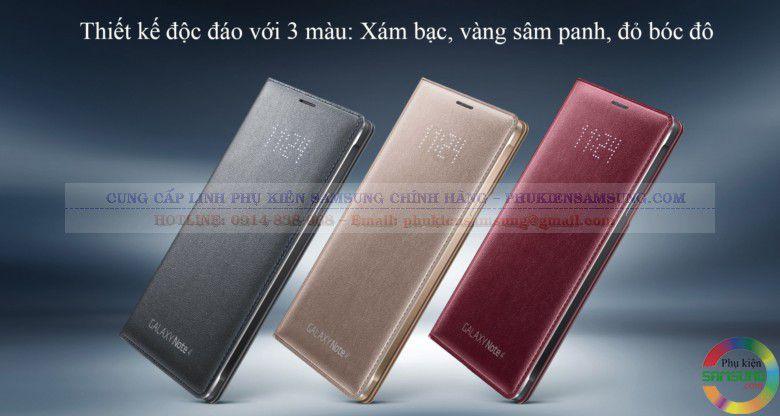 Các màu hiệu có của Bao da Galaxy Note 4 Led Flip wallet