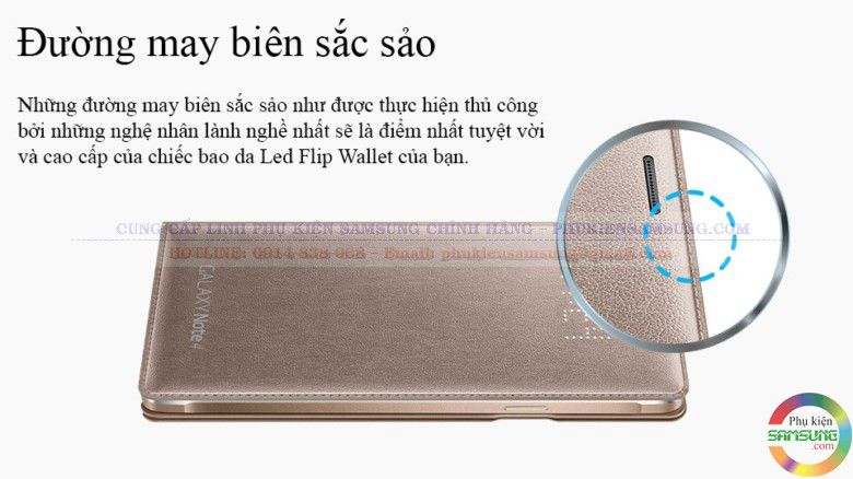 Led Flip wallet  Note 4