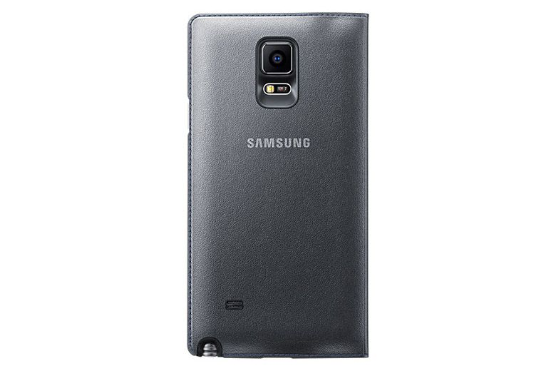 Bao da Samsung Galaxy Note 4 Led Flip Wallet black mặt sau