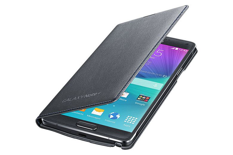 Bao da Samsung Galaxy Note 4 Led Flip Wallet black