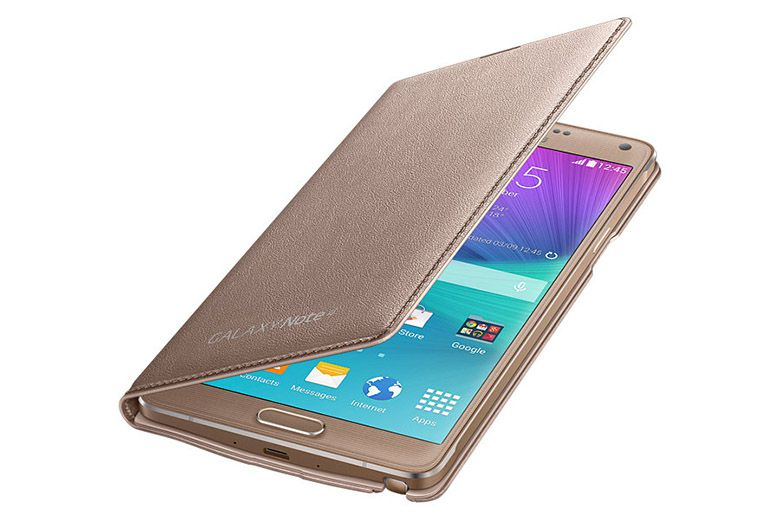 Bao da Galaxy Note 4 Led Flip Wallet Gold