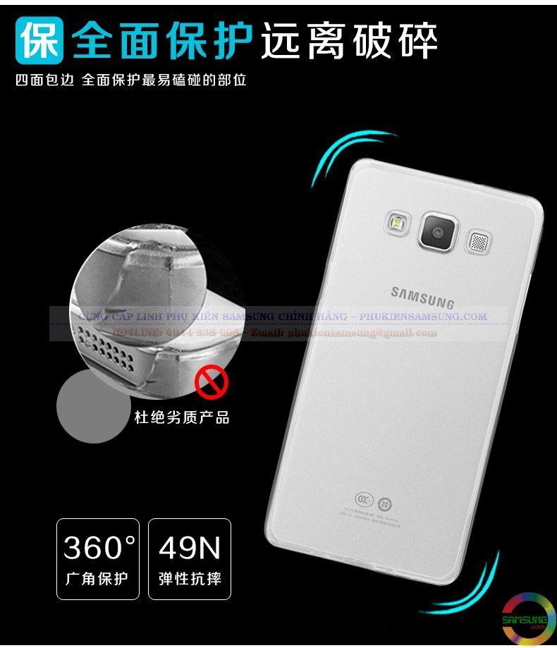 Với Ốp lưng Silicon Galaxy A3 bảo vệ viền và thân máy cực tốt