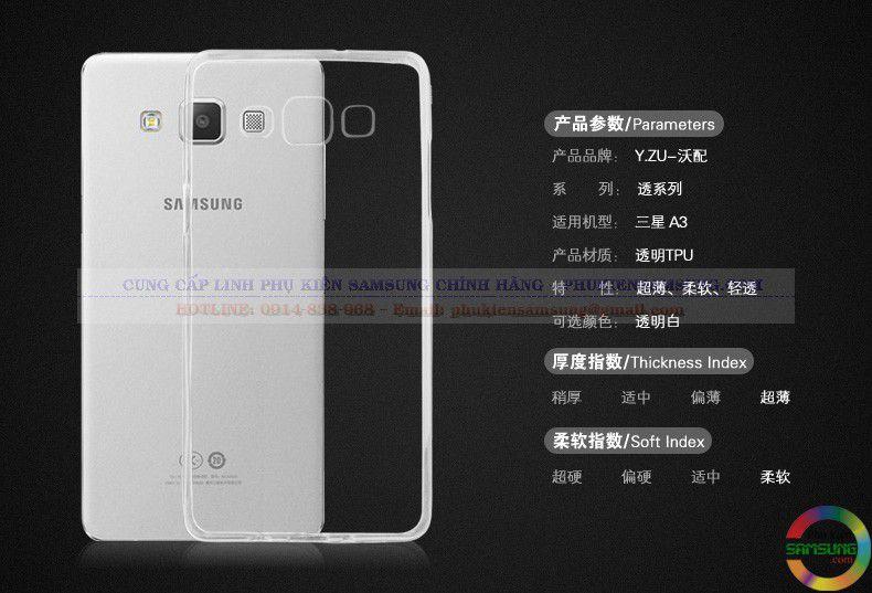 Ốp lưng Silicon Galaxy A3 được làm từ nhựa dẻo TPU tổng hợp