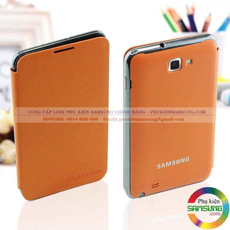 Bao da Galaxy Note 1 Flip Cover chính hãng màu cam