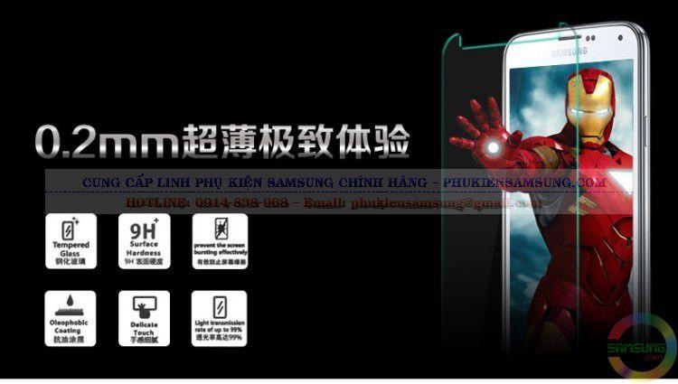 Kính cường lực Galaxy A3 dày 0,2mm không ảnh hưởng đến độ dày của máy