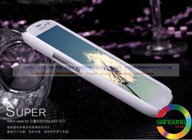 Ốp lưng Galaxy S3 i9300 Nillkin màu trắng chính hãng
