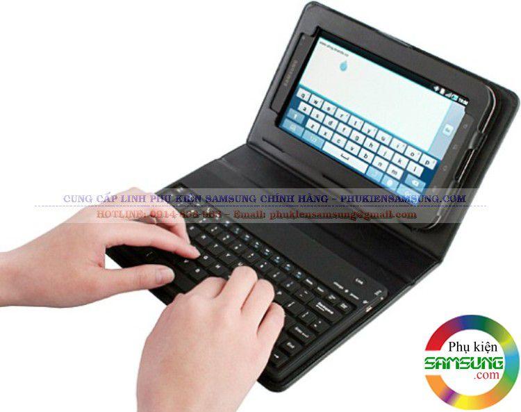 Bao da kiêm bàn phím Bluetooth Galaxy Tab P6200