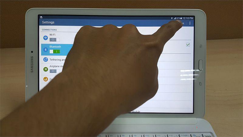 Hướng dẫn kết nối bàn phìm bluetooth và máy tính bảng Tab S2 9.7