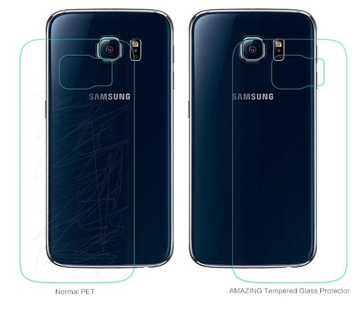 khác biệt khi có hoặc không dùng Kính cường lực Galaxy S6 Edge Nillkin